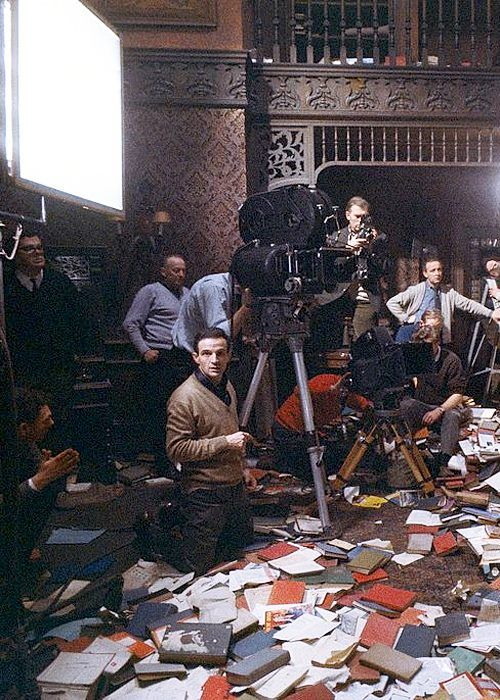 25_François Truffaut at work on Fahrenheit 451 (1966)..jpg