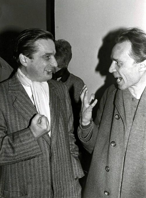 30_Jean-Pierre Léaud and Jacques Rivette at the Cinémathèque française in 1985. Photo by Daniel Keryzaouen..jpg