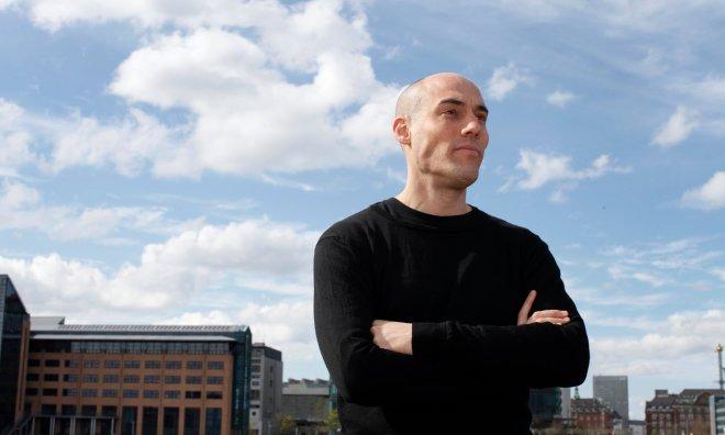 Joshua Oppenheimer, photographed at home in Copenhagen. Photograph: Katherine Anne Rose for the Observer.jpg