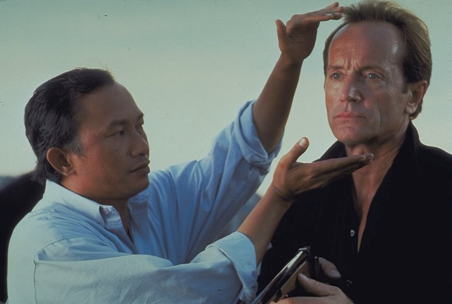 10_John Woo and Lance Henriksen on the set of Hard Target (1993).jpg