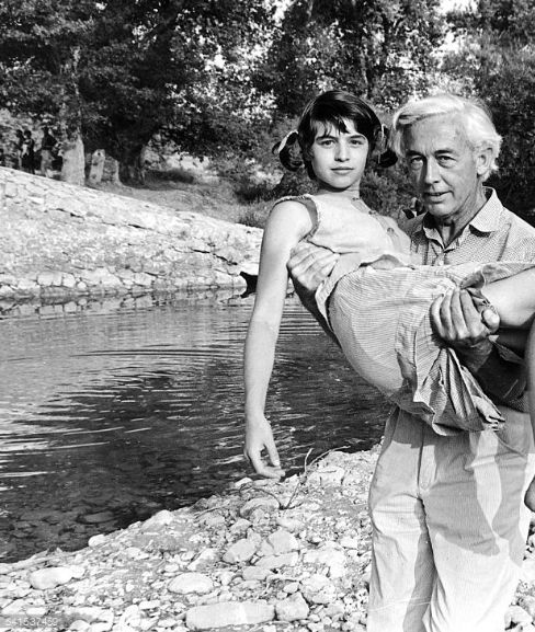 14_Nadine Nortier and Robert Bresson on the film set of Mouchette, 1967-2