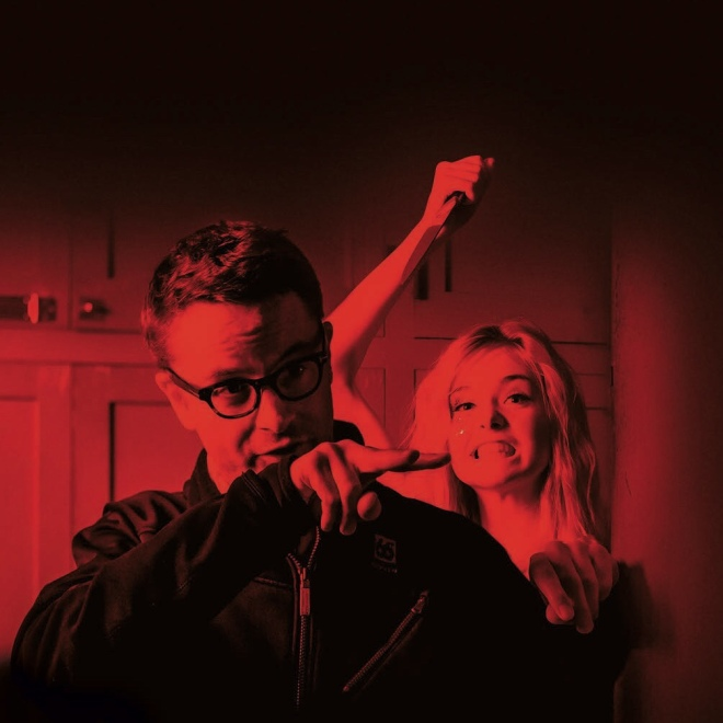 18_Nicolas Winding Refn & Elle Fanning on the set of The Neon Demon