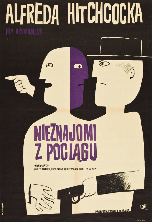 1_Strangers on a train polish poster by Witold Janowski.jpg