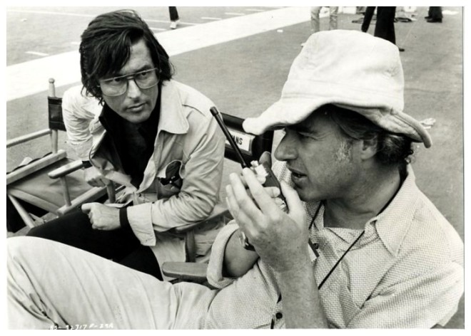 11_Producer Robert Evans with actor Robert Shaw & director John Frankenheimer on the set of Black Sunday,1977-2
