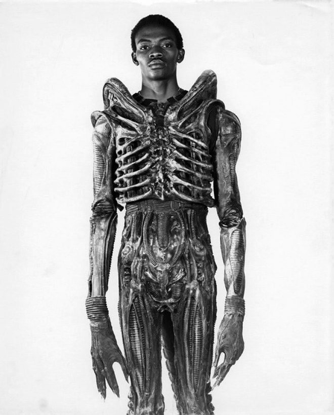 15_7-Foot Bolaji Badejo, A Nigerian Design Student And One-time Actor, Wearing His Costume From The Now Classic Sci-Fi Thriller Alien, 1978.jpg
