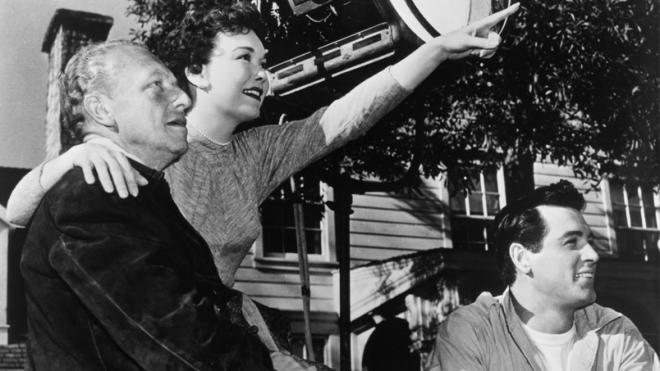 19_Douglas Sirk, Rock Hudson and Jane Wyman, On the set of All That Heaven Allows, 1955..png