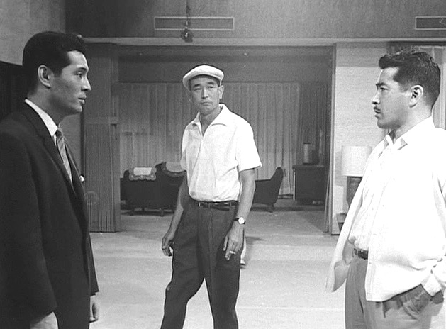 1_Tatsuya Nakadai, Akira Kurosawa and Toshirô Mifune, On the set of High and Low,1963..jpg
