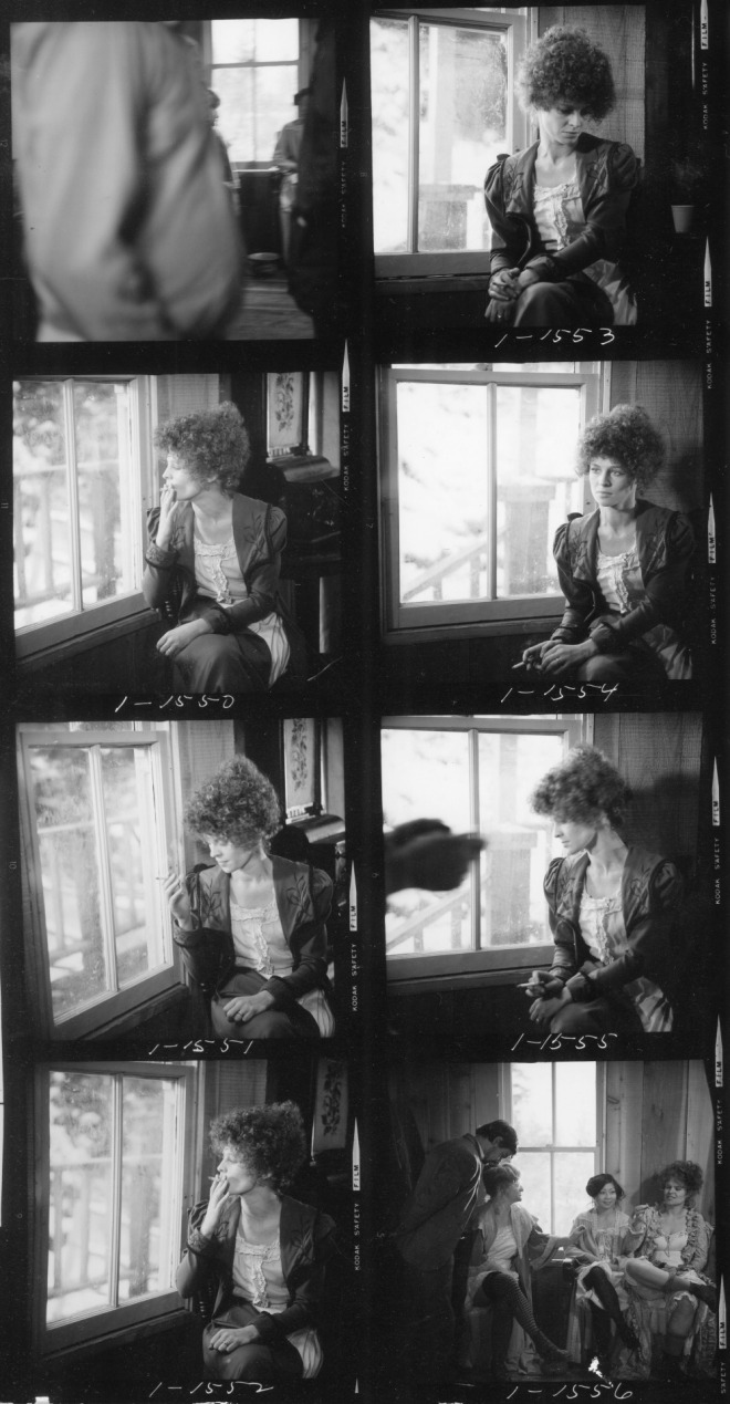 31_Contact sheet of Julie Christie on the set of McCabe & Mrs. Miller, 1970..jpg