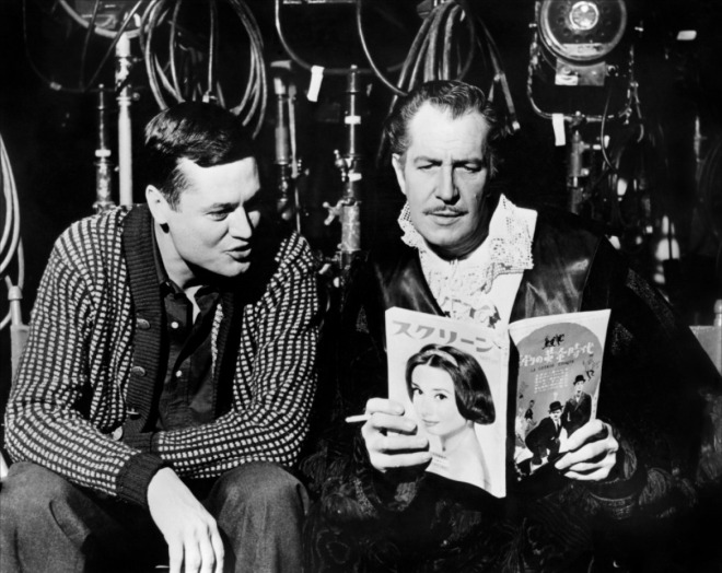 3_Roger Corman and Vincent Price on the set of The Pit and the Pendulum,1961..jpg