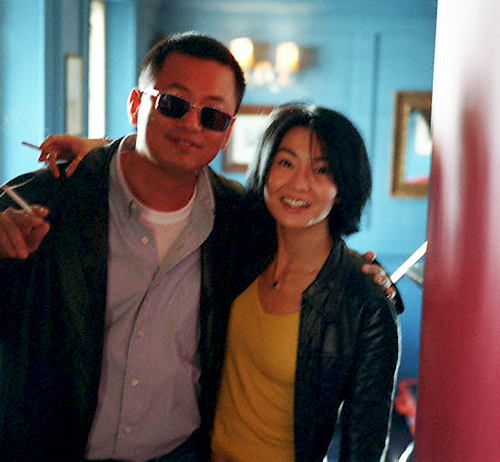 "8_Maggie Cheung and Wong Kar-Wai photographed by Neville Elder while promoting ""In The Mood For Love"", 2000-1"