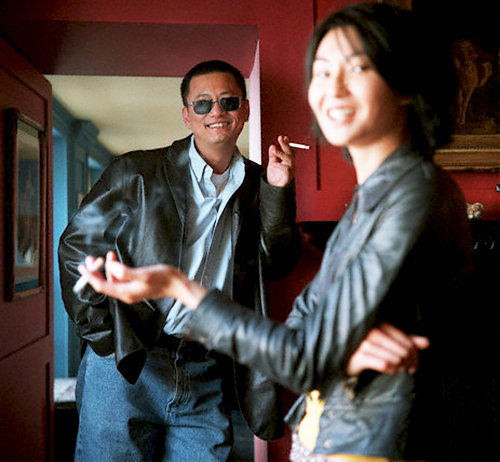 "8_Maggie Cheung and Wong Kar-Wai photographed by Neville Elder while promoting ""In The Mood For Love"", 2000-2"