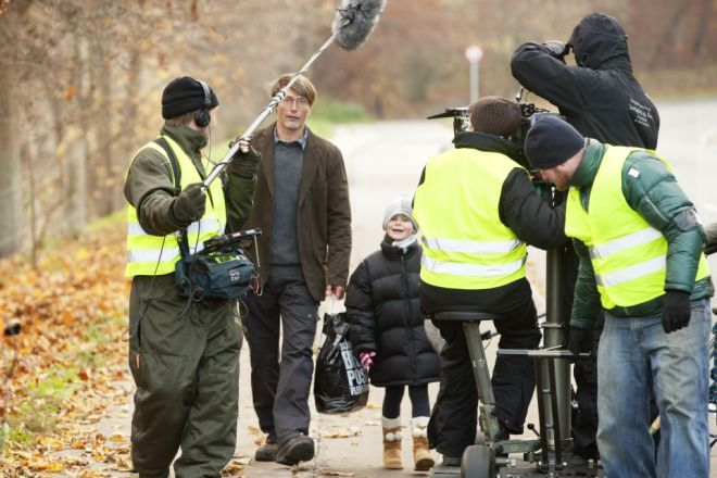 On the set of Jagten,2012 -2