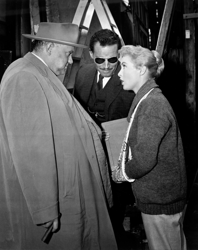 15_Orson Welles, Charlton Heston and Janet Leigh, On the set of Touch of Evil, 1958.jpg