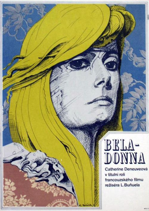 20_Czech poster art for Belle de Jour (1967, dir. Luis Bunuel) Artist: Karel Machálek.jpg