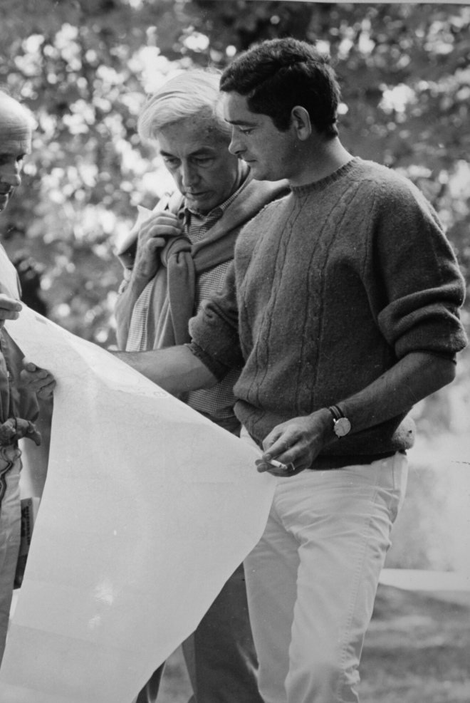 "22_Jacques Demy visiting Robert Bresson on the set of ""Mouchette"".jpg"