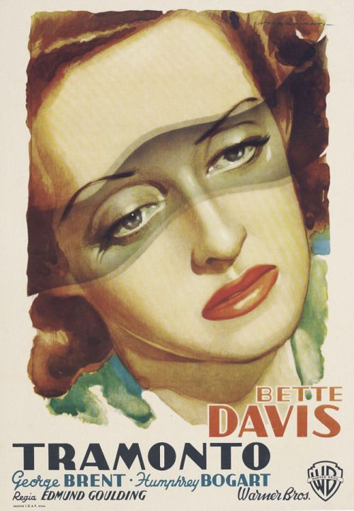 18_Italian poster for Dark Victory (1939), starring Bette Davis, George Brent, Humphrey Bogart, and Geraldine Fitzgerald. Illustration by Luigi Martinati..jpg