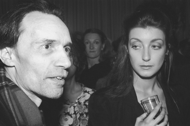20_Jacques Rivette and Pascale Ogier, who starred with her mother, Bulle Ogier, in Rivette's film Le Pont du Nord, New York City, 1981.jpg