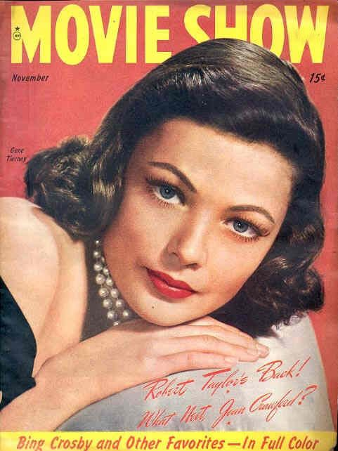 "5_Gene Tierney on the cover of ""Movie Show"" magazine, USA, November 1946..jpg"