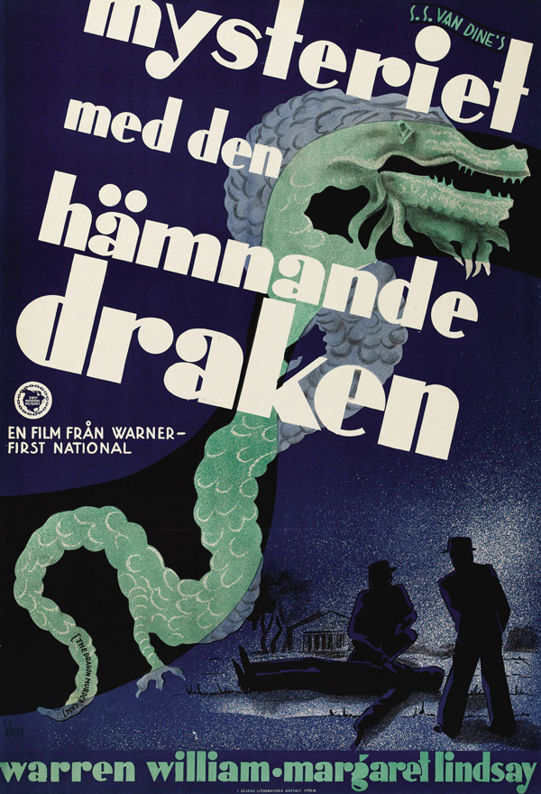 15_The Dragon Murder Case (Warner Brothers, 1934). Artist: Gösta Åberg.jpg