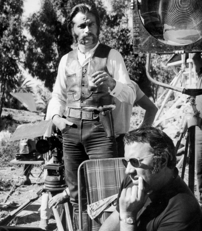 24_Franco Nero and Sergio Corbucci, On the set of The Mercenary, 1968..jpg