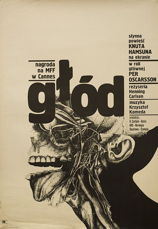 "7_Poster design by Bronislaw Zelek for 1966 film ""Hunger"".jpg"