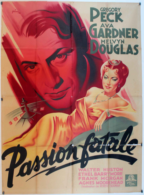 10_The Great Sinner (1949). French poster by Boris Grinsson..jpg