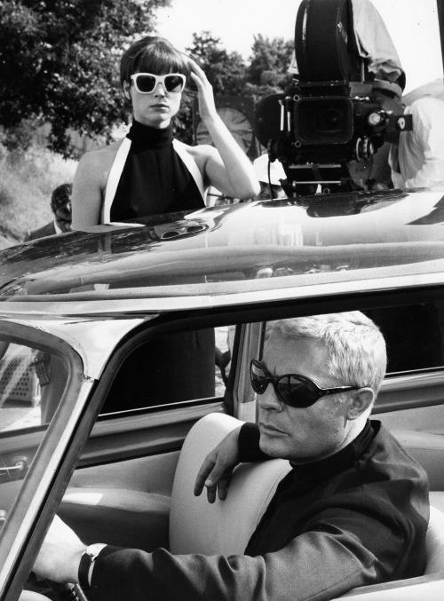 """14_Marcello Mastroianni & Elsa Martinelli on the set of """"La Decima Vittima"""". Photo by Tazio Secchiaroli.jpg"""