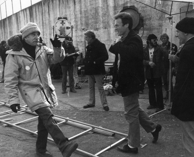 26_Don Siegel and Clint Eastwood on the set of Escape From Alcatraz-1.jpg