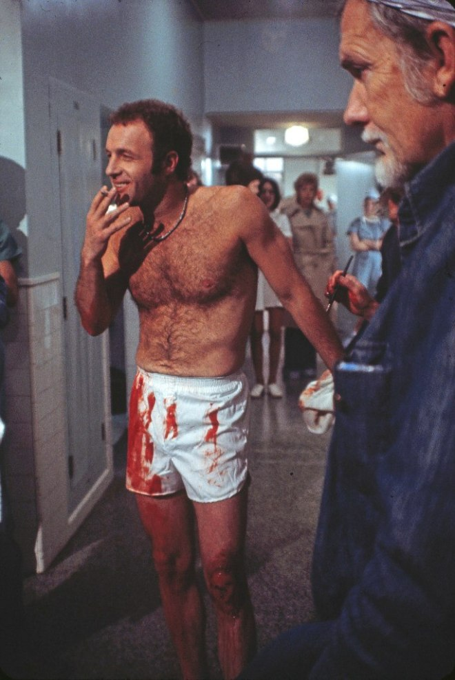 26_James Caan and Sam Peckinpah on the set of The Killer Elite..jpg