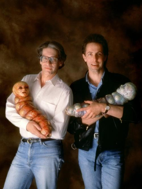 16_David Cronenberg and Clive Barker on the set of Nightbreed.jpg