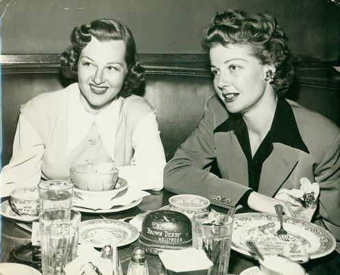6_Historic Photograph of Jo Stafford & Ann Sheridan At The Hollywood Brown Derby On Vine St..jpg