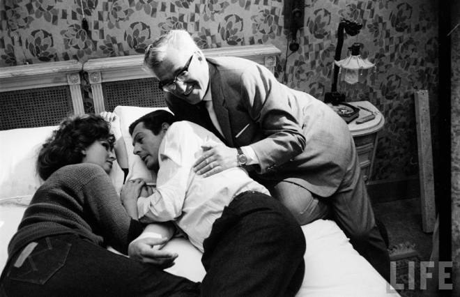15_Sophia Loren, Marcello Mastroianni and Vittorio De Sica on the set of Marriage Italian Style,1964..jpg