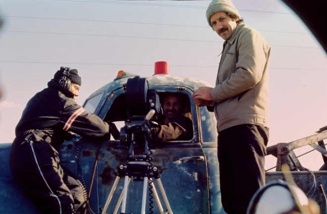 6_Werner Herzog on the set of Stroszek (1977).-1