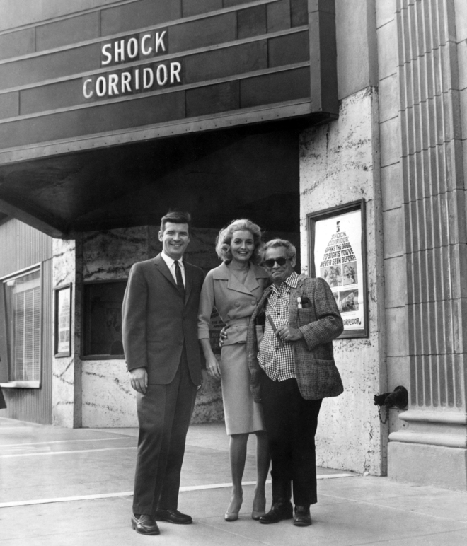 13_Peter Breck and Constance Towers and director Samuel Fuller attend a screening of Shock Corridor (1963).jpg