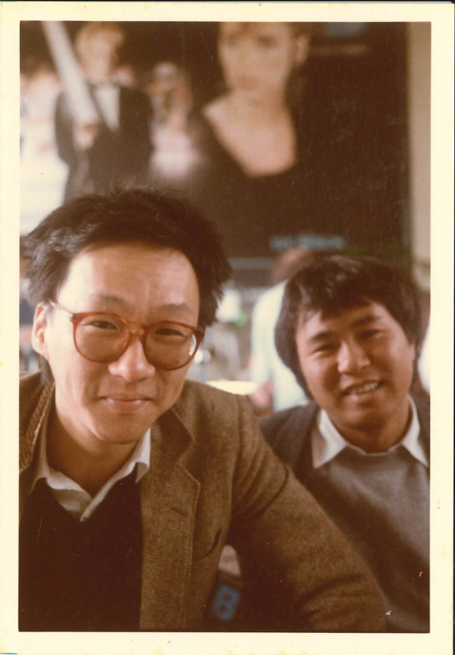 7_Edward Yang and HOU Hsiao-hsien at the London International Film Festival for the screening of Taipei Story, 1985..jpg