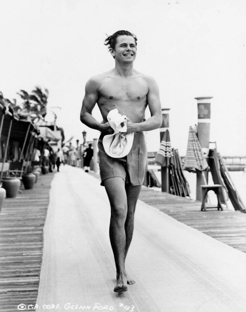 13_Glenn Ford photographed on vacation in Miami shortly after filming his first major motion picture So Ends Our Night, 1941..jpg