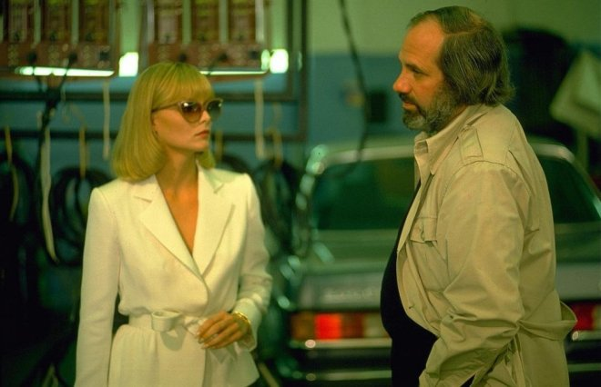 26_Michelle Pfeiffer and Director Brian De Palma on the set of Scarface..jpg