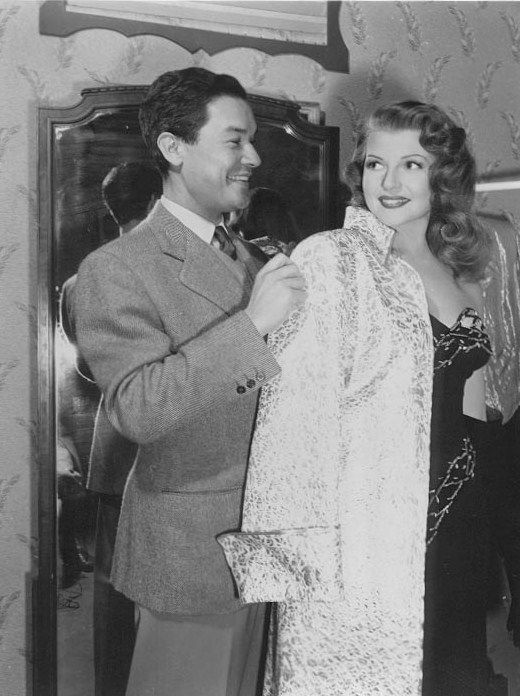 6_Rita Hayworth and costume designer Jean Louis on the set of Gilda, 1946..jpg