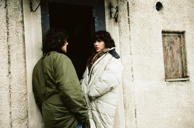 Jonathan Glazer and Scarlett Johansson on the set of Under the Skin-1