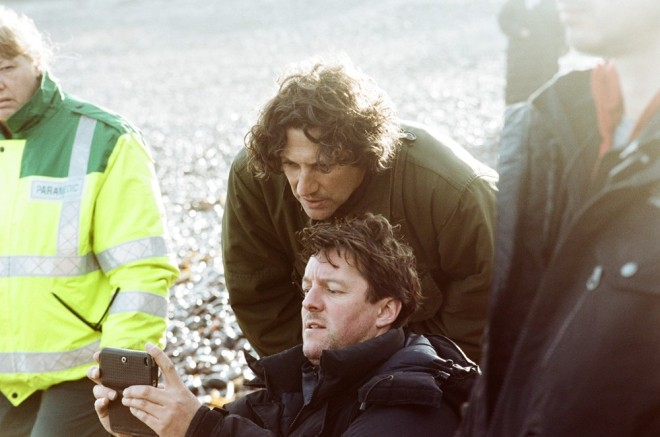 Jonathan Glazer and Scarlett Johansson on the set of Under the Skin-3
