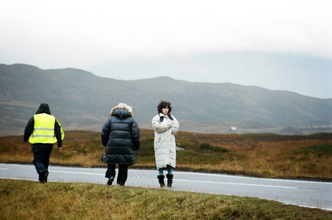 Jonathan Glazer and Scarlett Johansson on the set of Under the Skin-5