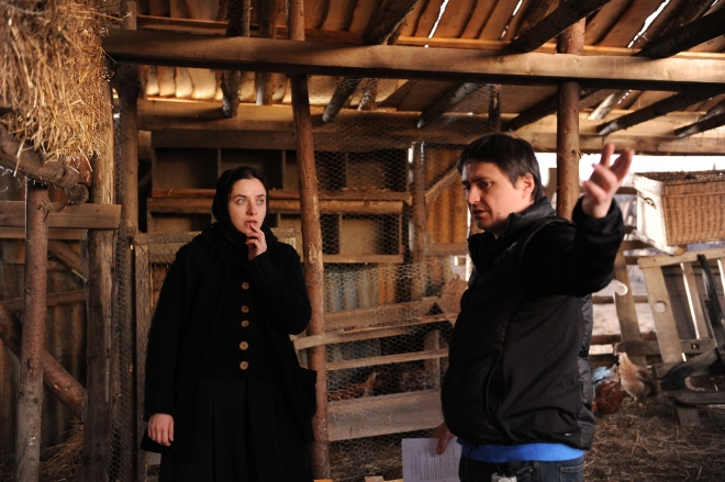 18_Cristian Mungiu directs Cosmina Stratan  on the set of Beyond the Hills.jpg