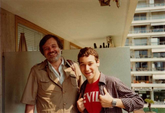 24_George A. Romero and Sam Raimi at Cannes in 1982.jpg