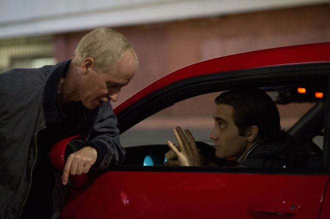 Dan Gilroy and Jake Gyllenhaal while filming Nightcrawler (2014)-2