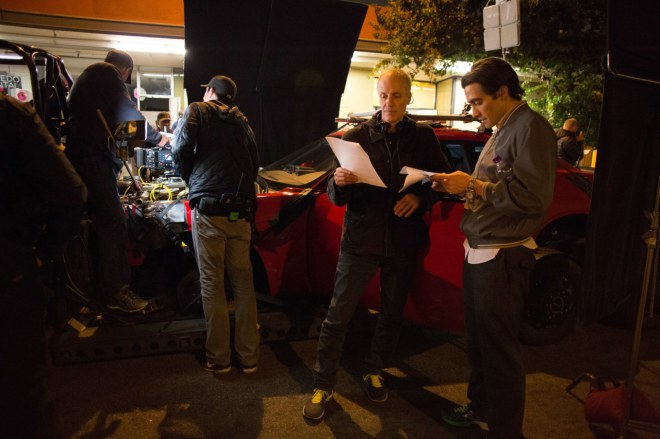 Dan Gilroy and Jake Gyllenhaal while filming Nightcrawler (2014)-3