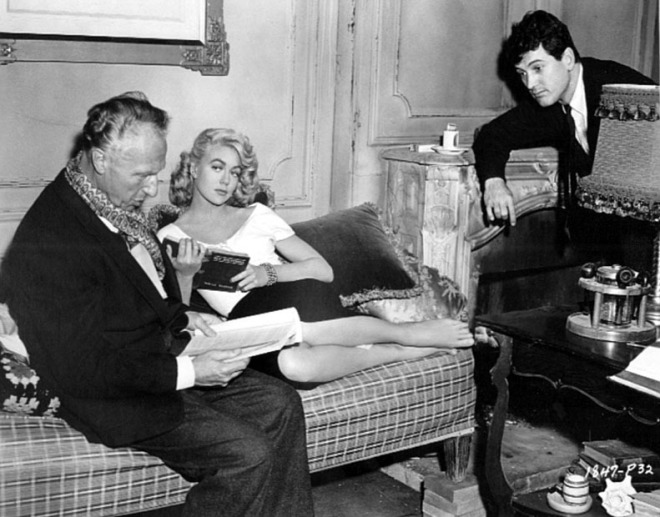 10_Director Douglas Sirk, Dorothy Malone and Rock Hudson rehearse a scene from The Tarnished Angels.jpg