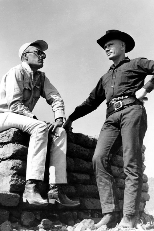 16_Yul Brynner and director John Sturges filming The Magnificent Seven (1960).png