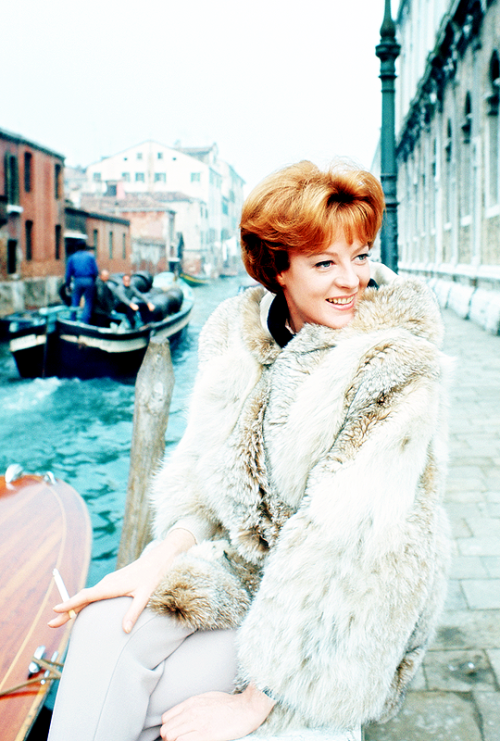 27_Maggie Smith, photographed in Venice during the filming of The Honey Pot (1967) .png
