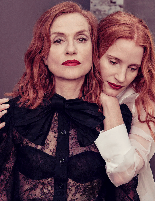 Isabelle Huppert and Jessica Chastain photographed by Ruven Afanador-2.png