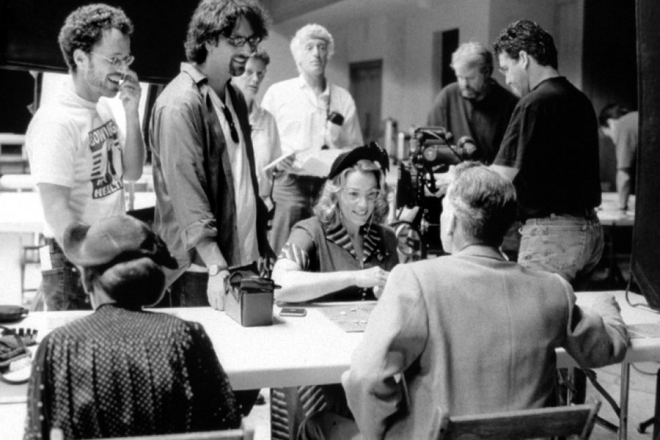 Joel and Ethan Coen while filming The Man Who Wasn_t There (2001)-2